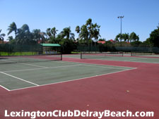 Lexington Club in Delray Beach, Florida has three lighted tennis courts.